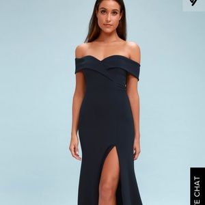 Lulu's Song of Love Navy Formal Dress